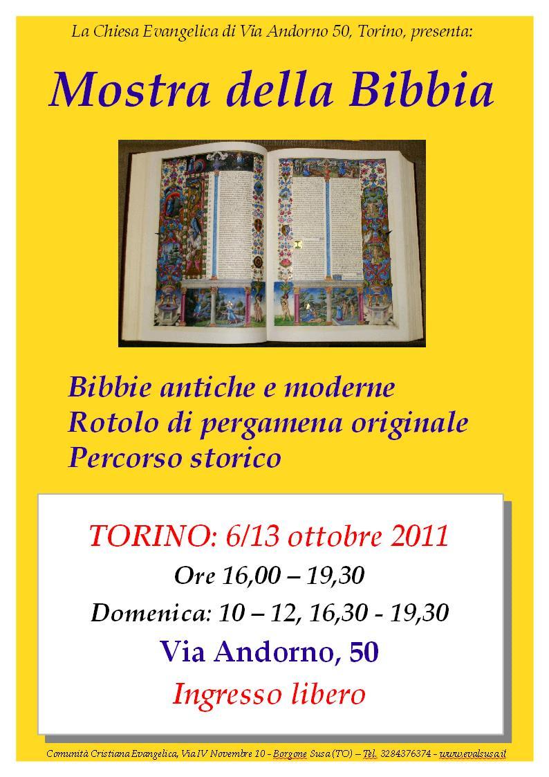 Locandina Mostra della Bibbia, Torino 2011